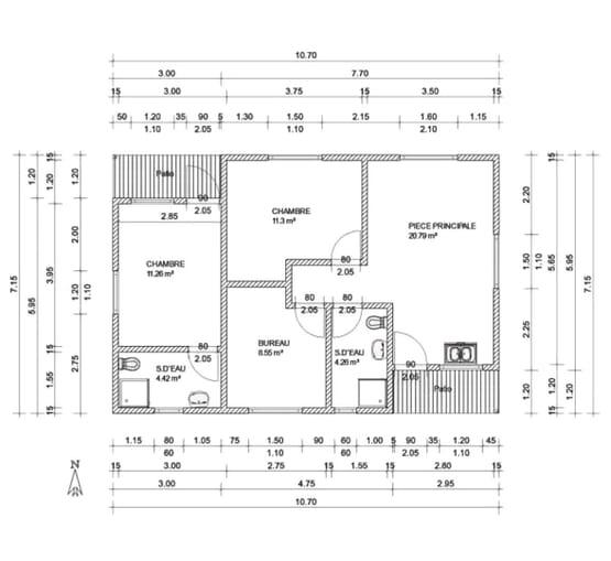 Plan ORCHARD – Villa en ossature acier de type F4 de 76 m²