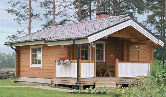 RAIJA – Chalet en bois avec madriers type F2 de 41 m²