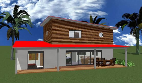 SARA – Maison à ossature métallique de type F3/4 de 198 m²