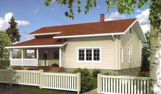 OLGA – Villa en bois avec madriers type F3 de 112 m²
