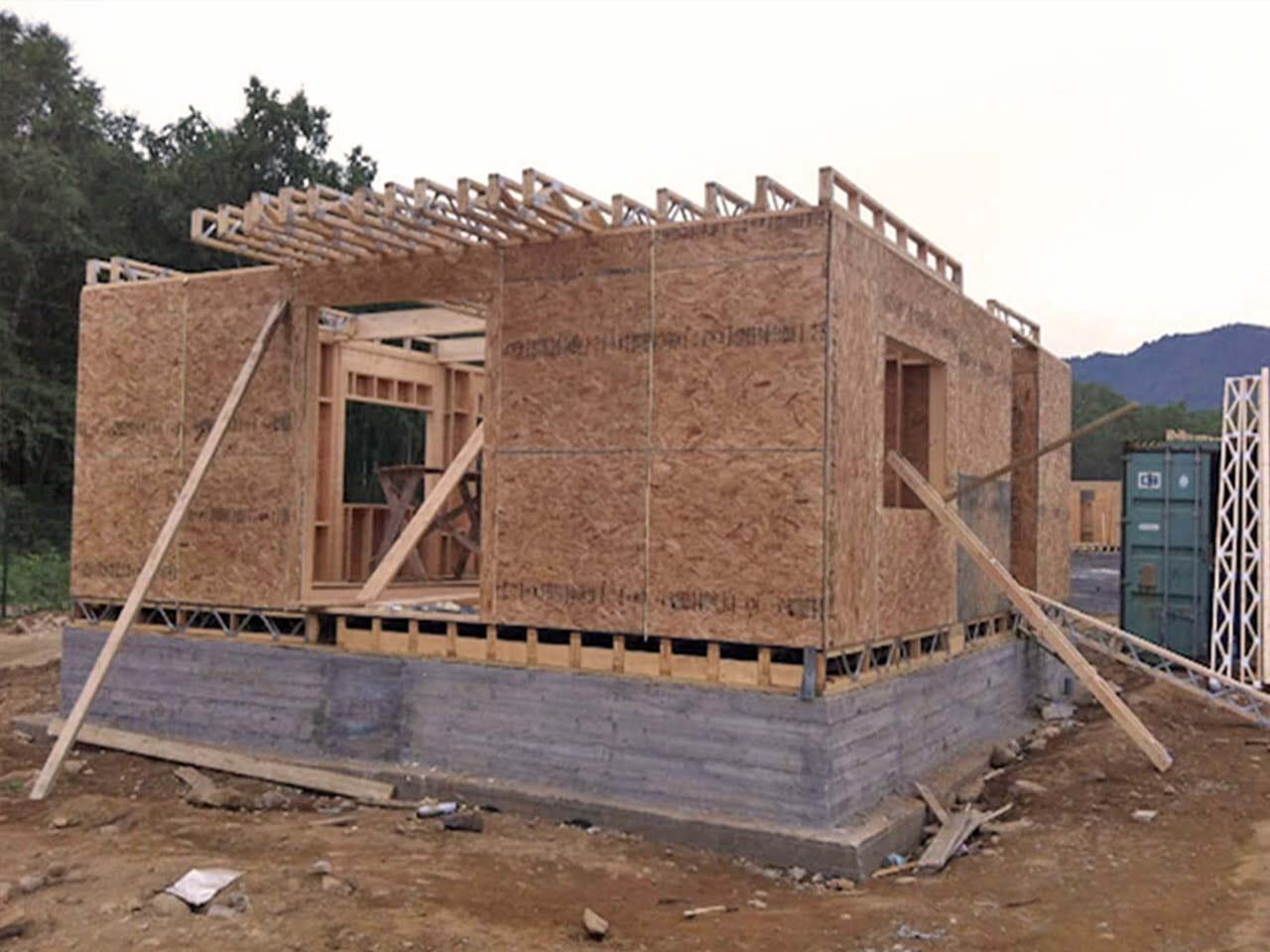 Maison en panneaux SIP (Panneau Isolant Structurel)